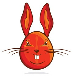 zeka jaje crveni resize vector image vector image