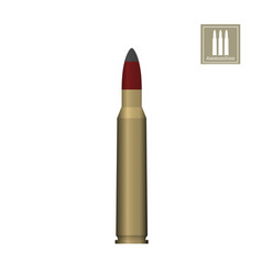 bullet drawing on a white background vector image vector image