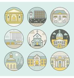 City architecture emblems vector image