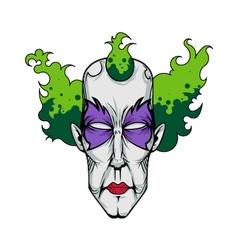 clown 2 vector image