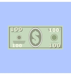 dollars money banknote vector image vector image