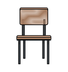 drawing chair seat furniture wooden vector image