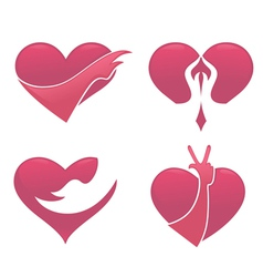 Love and hand vector