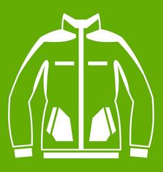 men winter jacket icon green vector image