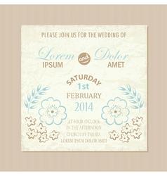 wedding card vintage vector image