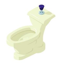comfort toilet icon isometric style vector image