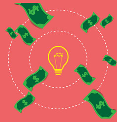 Concept ideas and innovation exchange money vector
