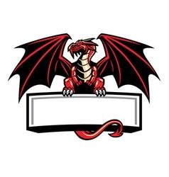 dragon mascot spread the wings vector image vector image