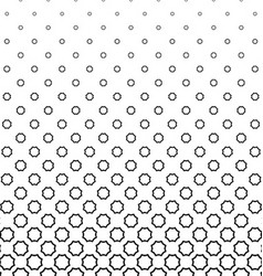 Black and white curved octagon pattern background vector image