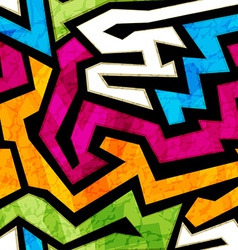 colored graffiti seamless texture with grunge vector image