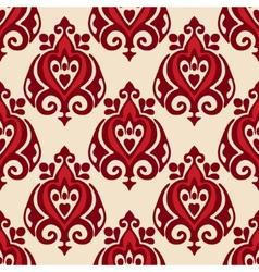 damask seamless design vector image vector image