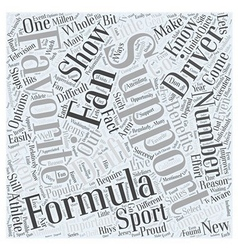 Formula d fans support your favorite driver word vector