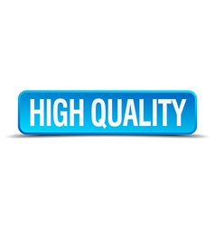 high quality blue 3d realistic square isolated vector image