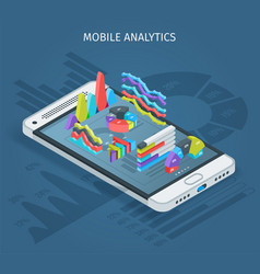 mobile analytics concept vector image vector image