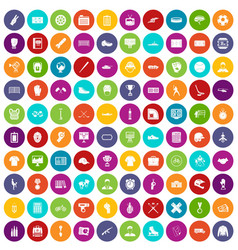 100 mens team icons set color vector
