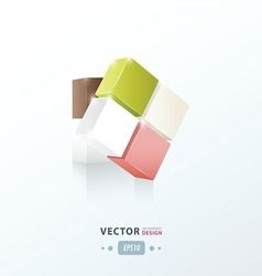 3D Cube abstract vector image