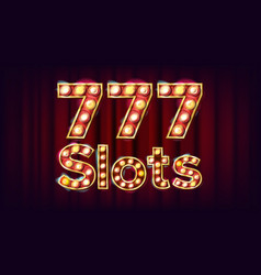 777 slots banner casino vintage style vector image