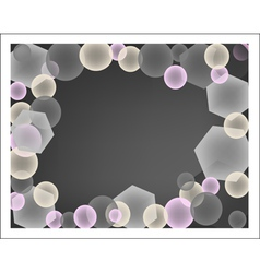 Abstract background of pink and gray circles vector