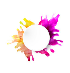 abstract background with fluid multicolored paint vector image