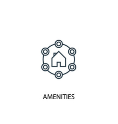 Amenities concept line icon simple element vector