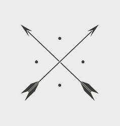 Arows icon on grey background vector