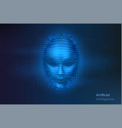 artificial intelligence or ai robot digital face vector image