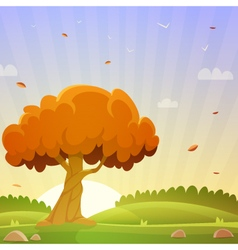 Autumn Countryside Landscape vector image