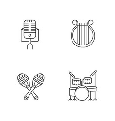 band musical instruments pixel perfect linear vector image