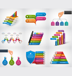 big collection infographics design elements vector image