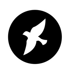 Bird silhouette isolated icon vector