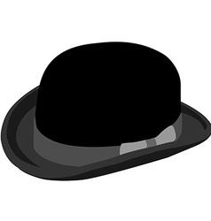 Black bowler hat vector image vector image
