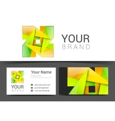 business card creative design template Corporate vector image vector image