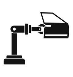 Car factory robot door icon simple style vector