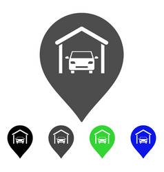 Car garage marker flat icon vector