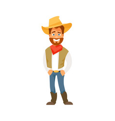 cartoon cowboy vector image