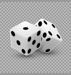Casino dice on a transparent background vector