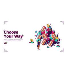 choose your way career development banner vector image