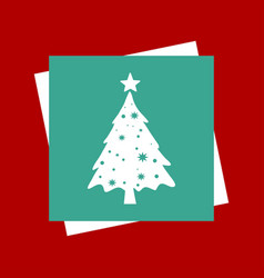 christmas tree on light background vector image