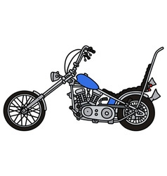 Classic blue chopper vector