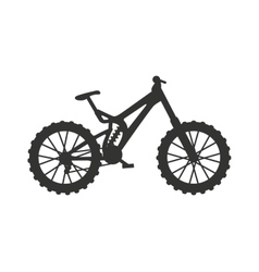 Classic sport bike silhouette pedal race vehicle vector