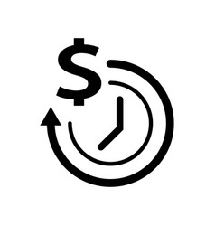 clock with dollar sign icon icon simple element vector image
