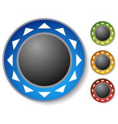 Control button joystick with arrows around vector
