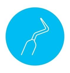 Dental scraper line icon vector image