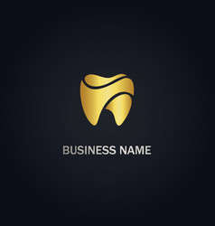 dental tooth healthcare logo vector image