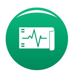 Electrocardiogram icon green vector