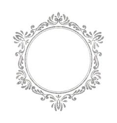 Elegant luxury vintage silver floral frame vector