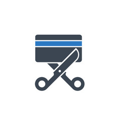expired credit card related glyph icon vector image