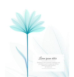 floral design template flower x-ray effect vector image