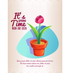 Flower in pot plant design vector