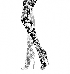 Glamour fashion legs vector